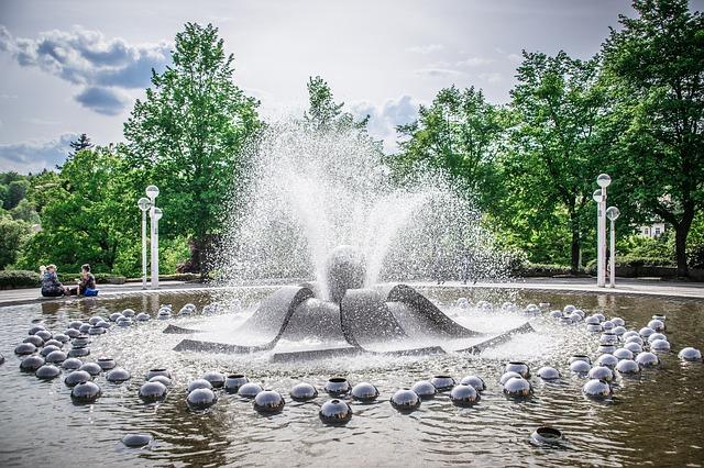 fontána u lázní